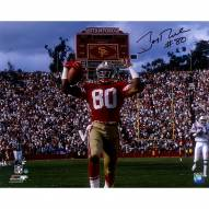 Jerry Rice Signed San Francisco 49ers 'TD Celebration' 16 x 20 Photo