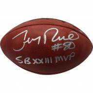 "Jerry Rice Signed Wilson Super Bowl XXIII Logo Football w/ ""SB XXIII MVP"" Insc"