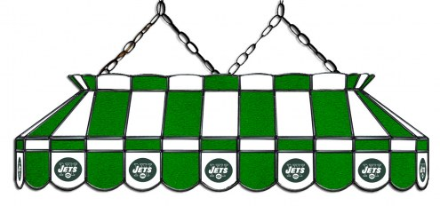 """New York Jets NFL Team 40"""" Rectangular Stained Glass Shade"""