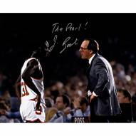 """Jim Boeheim Signed with Pearl Washington On Court 16 x 20 Photo w/ """"The Pearl"""""""
