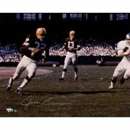 Jim Brown Signed Running vs Eagles Color 16 x 20 Photo (Signed in Silver)