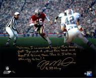 "Joe Montana Run vs. Dolphins Spotlight Story 16 x 20 Photo w/ ""4x SB Champs"" Insc."