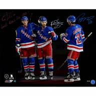 """JT Miller/Kevin Shattenkirk/Ryan McDonagh Triple Signed """"God Bless the USA!"""" 16 x 20 Photo"""