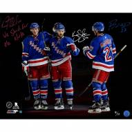 """JT Miller/Kevin Shattenkirk/Ryan McDonagh Triple Signed """"We Stand for the R/W/B"""" 16 x 20 Photo"""