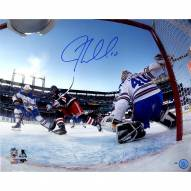 JT Miller Signed '2018 Winter Classic Overtime Goal' 16 x 20 Photo