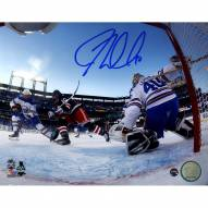 JT Miller Signed '2018 Winter Classic Overtime Goal' 8 x 10 Photo