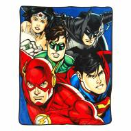 Justice League On Your Mark Micro Raschel Throw Blanket
