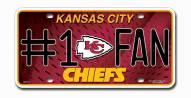 Kansas City Chiefs #1 Fan License Plate