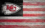 "Kansas City Chiefs 11"" x 19"" Distressed Flag Sign"