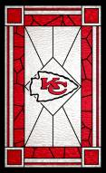"""Kansas City Chiefs 11"""" x 19"""" Stained Glass Sign"""
