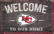 """Kansas City Chiefs 11"""" x 19"""" Welcome to Our Home Sign"""
