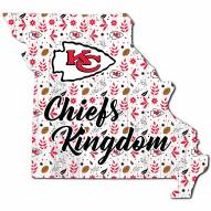 """Kansas City Chiefs 12"""" Floral State Sign"""