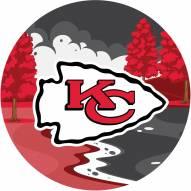 """Kansas City Chiefs 12"""" Landscape Circle Sign"""