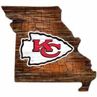 "Kansas City Chiefs 12"" Roadmap State Sign"