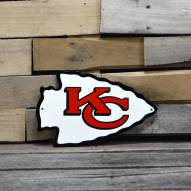 "Kansas City Chiefs 12"" Steel Logo Sign"