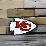 "Kansas City Chiefs 12"" Steel Logo Sign"