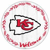 "Kansas City Chiefs 12"" Welcome Circle Sign"