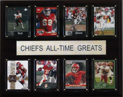 "Kansas City Chiefs 12"" x 15"" All-Time Greats Plaque"