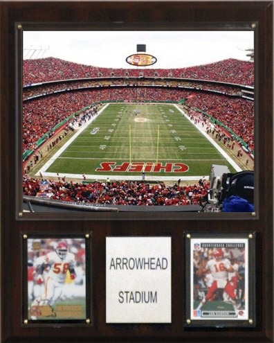 """Kansas City Chiefs 12"""" x 15"""" Stadium Plaque"""
