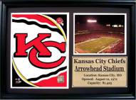"Kansas City Chiefs 12"" x 18"" Photo Stat Frame"