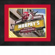 Kansas City Chiefs 13 x 16 Personalized Framed Sports Pub Print