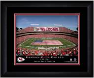 Kansas City Chiefs 13 x 16 Personalized Framed Stadium Print