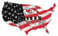 "Kansas City Chiefs 15"" USA Flag Cutout Sign"