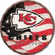 "Kansas City Chiefs 16"" Flag Barrel Top"
