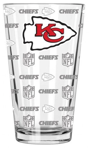 Kansas City Chiefs 16 oz. Sandblasted Pint Glass