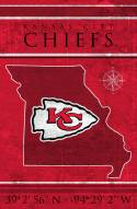 "Kansas City Chiefs 17"" x 26"" Coordinates Sign"