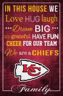 """Kansas City Chiefs 17"""" x 26"""" In This House Sign"""