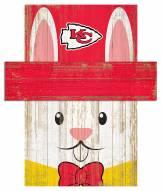 "Kansas City Chiefs 19"" x 16"" Easter Bunny Head"
