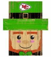 "Kansas City Chiefs 19"" x 16"" Leprechaun Head"