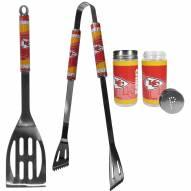 Kansas City Chiefs 2 Piece BBQ Set with Tailgate Salt & Pepper Shakers
