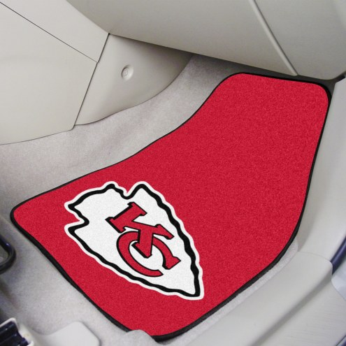 Kansas City Chiefs 2-Piece Carpet Car Mats