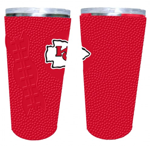 Kansas City Chiefs 20 oz. Stainless Steel Tumbler with Silicone Wrap