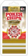 Kansas City Chiefs 20 Piece Poker Chips Set