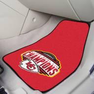 Kansas City Chiefs 2020 Super Bowl Champs 2-Piece Carpet Car Mats