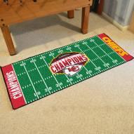 Kansas City Chiefs 2020 Super Bowl Champs Football Field Runner Rug