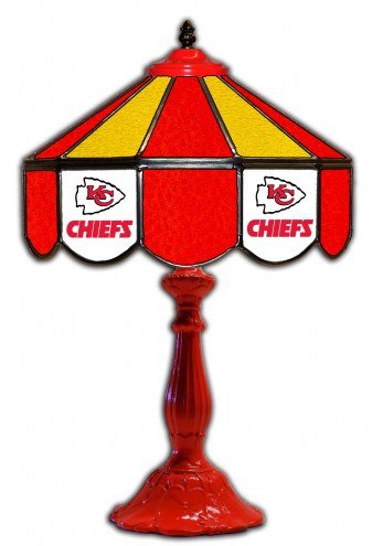 "Kansas City Chiefs 21"" Glass Table Lamp"