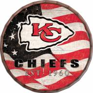 "Kansas City Chiefs 24"" Flag Barrel Top"