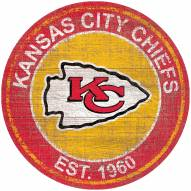 "Kansas City Chiefs 24"" Heritage Logo Round Sign"