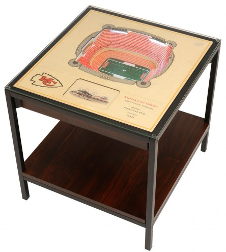 Kansas City Chiefs 25-Layer StadiumViews Lighted End Table
