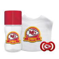 Kansas City Chiefs 3-Piece Baby Gift Set