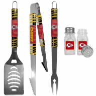Kansas City Chiefs 3 Piece Tailgater BBQ Set and Salt and Pepper Shakers
