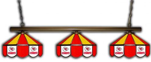 Kansas City Chiefs 3 Shade Pool Table Light