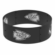 "Kansas City Chiefs 36"" Round Steel Fire Ring"