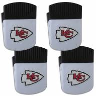 Kansas City Chiefs 4 Pack Chip Clip Magnet with Bottle Opener
