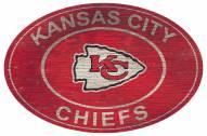 "Kansas City Chiefs 46"" Heritage Logo Oval Sign"