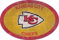 "Kansas City Chiefs 46"" Team Color Oval Sign"